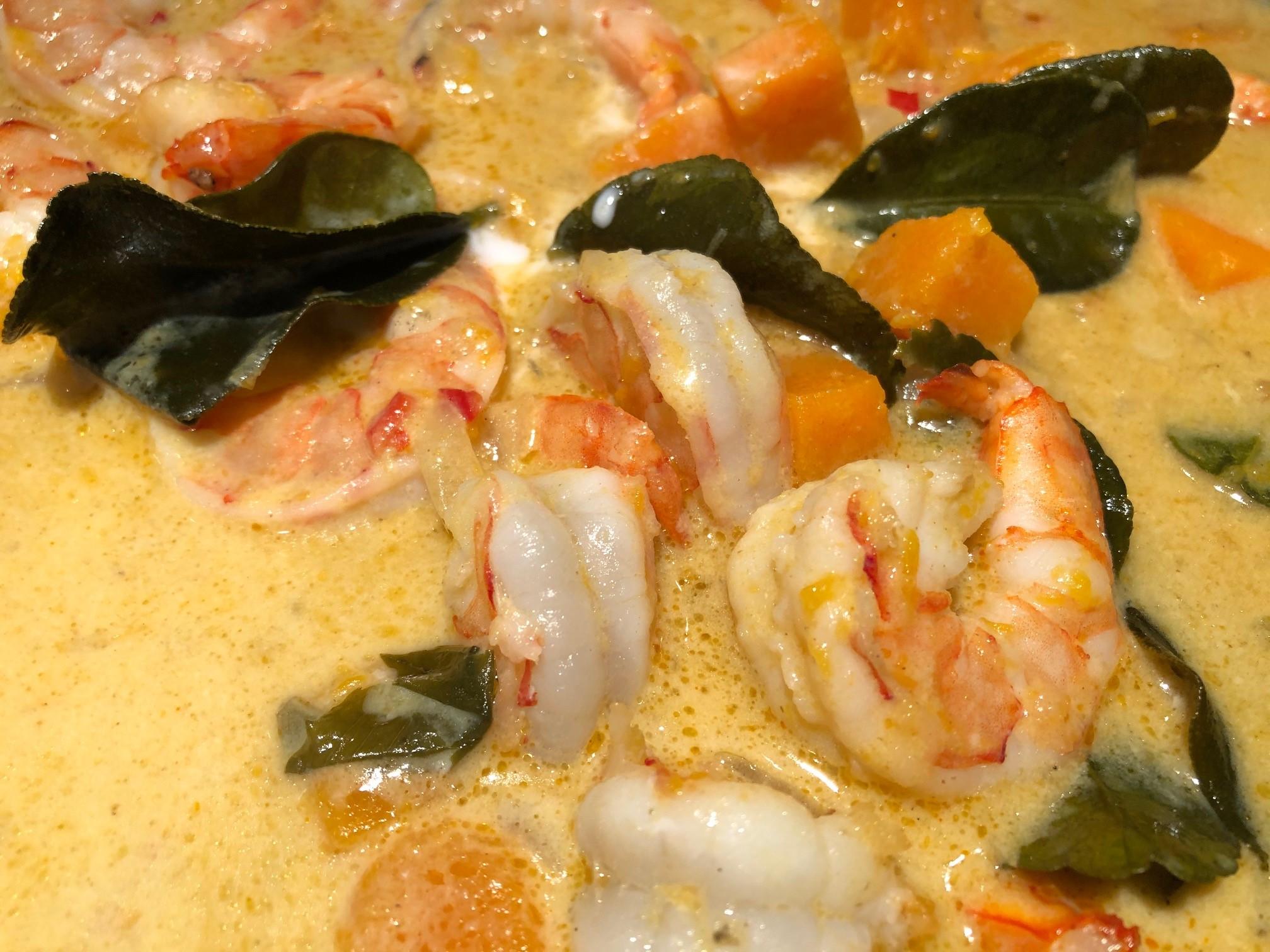 Kürbis-Garnelen-Curry