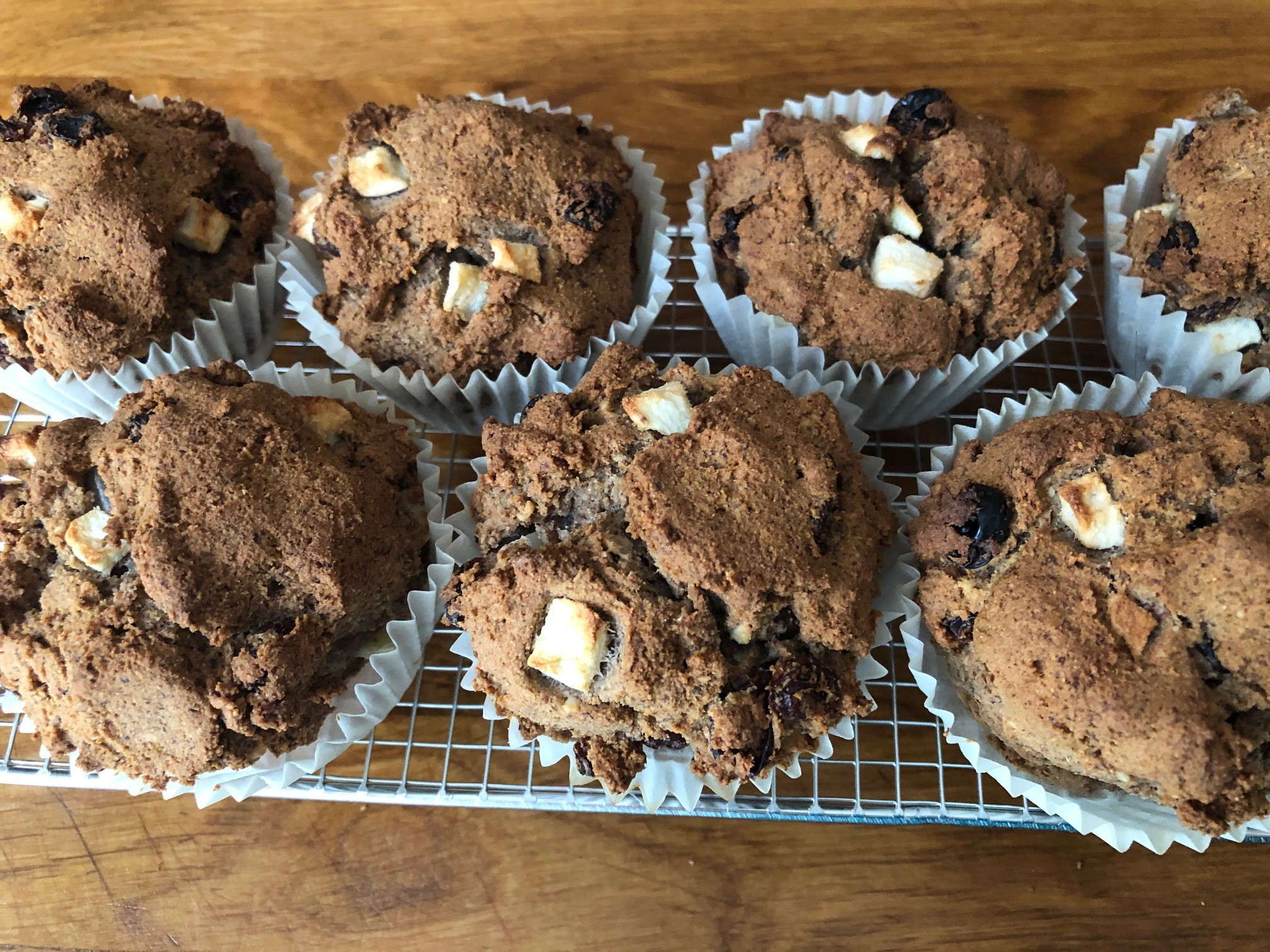 Rosinen-Apfel-Muffins