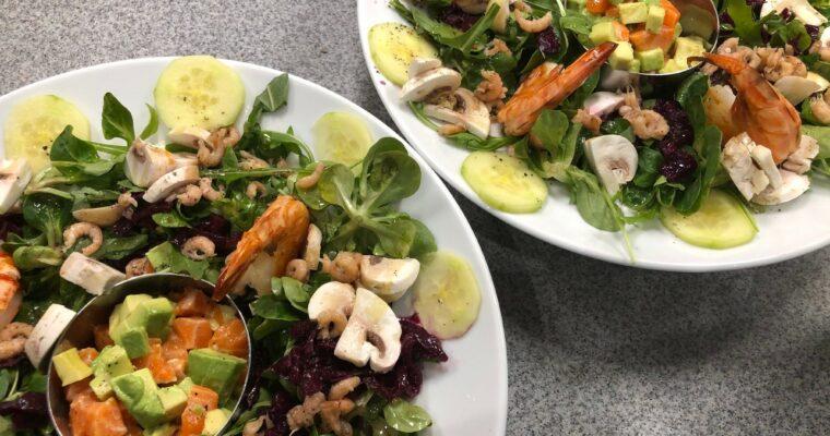 Salat mit dreierlei aus dem Meer